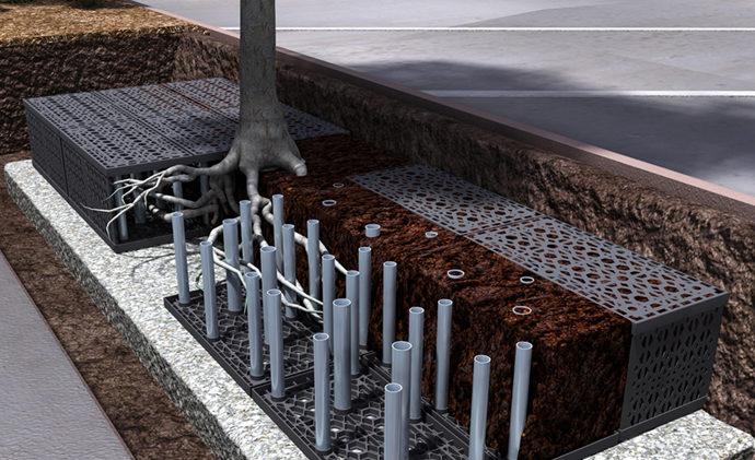 StormTank Urban Root System