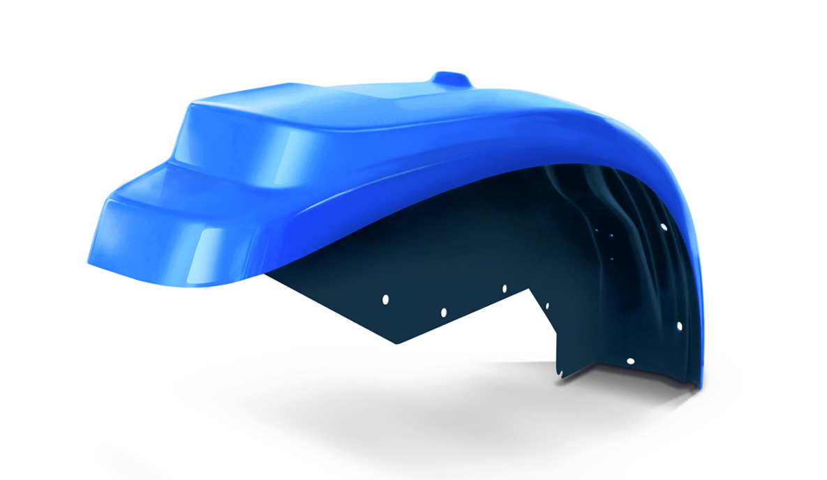 Custom Plastic Fender for a Tractor