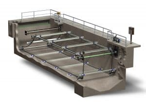 4-shaft rectangular clarifier
