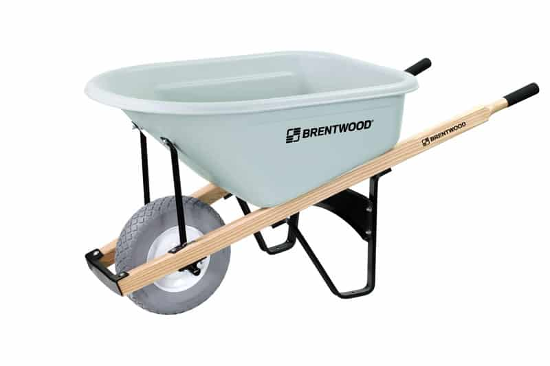 6 cube single tire wheelbarrow