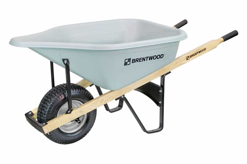 brentwood wheelbarrow with single turf tire