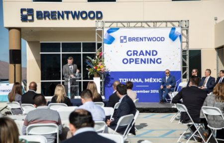 Grand Opening Remarks in front of Brentwood Mexico