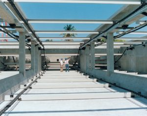 Polychem Budd Company first 100% nonmetallic chain and flight system in Miami-Dade Florida